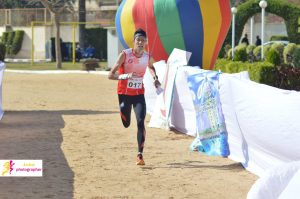 Chi Ko Abdon Cheung crossing the sprint finish